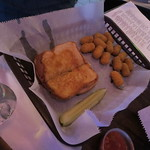 Grilled cheese and cheese curds