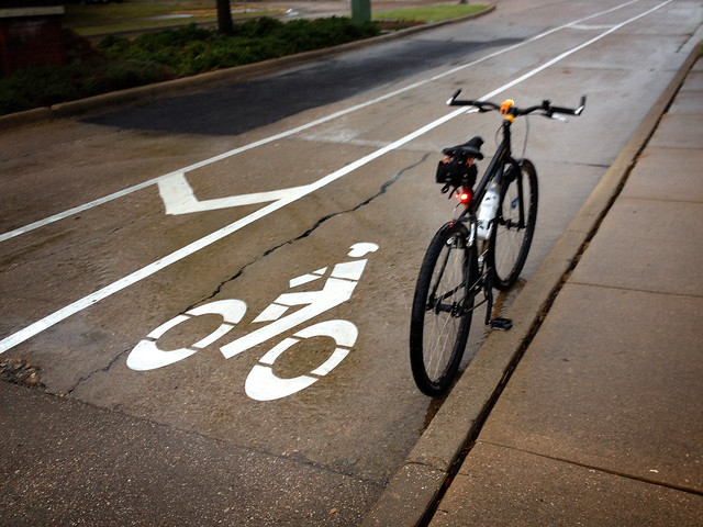 Wet Bike Lane