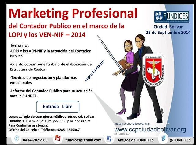 Curso: Marketing Profesional del Contador Publico en el marco de la LOPJ y los VEN-NIF – 2014