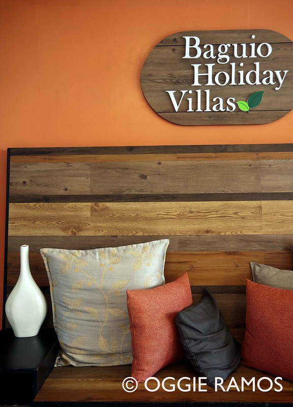 Baguio Holiday Villas Couch and Logo