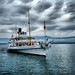 Historic Steamship on Lake Geneva, Switzerland by ` Toshio '