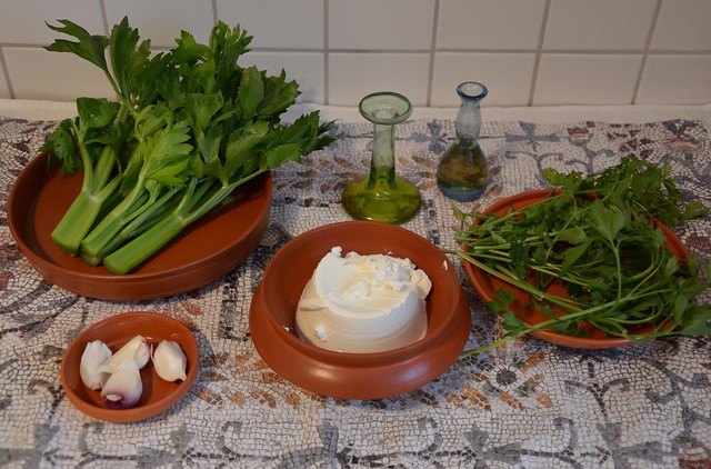 Moretum, Ingredients