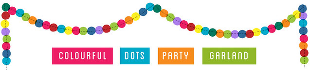 colourful dots party garland