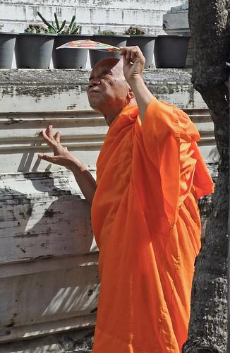 Monk at a Bangkok Wat