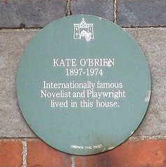 Photo of Kate O'Brien green plaque