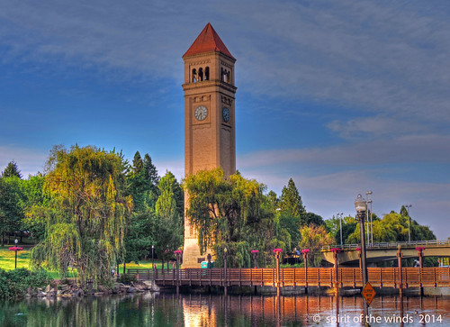 riverfrontpark spokaneriver theclocktower spokanewashingtonstate