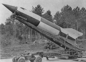 V2 en su rampa de lanzamiento