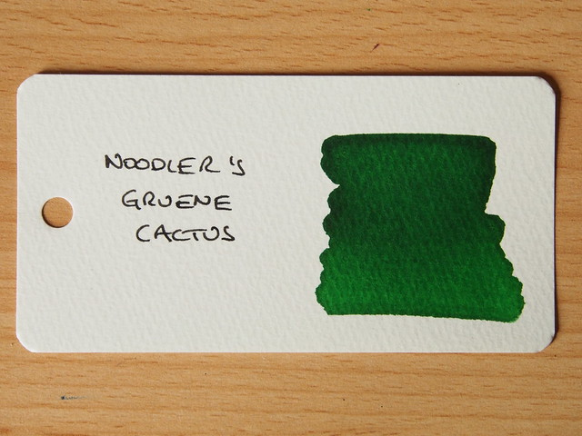 Noodler's Grune Cactus - Word Card - Ink Review