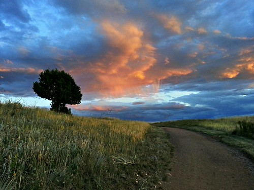 park sunset colorado denver bluffs