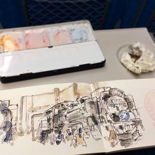 #kyoto #bolígrafo #watercolor #japon #train #urbansketch