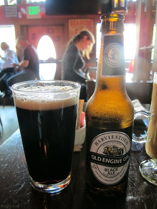 Sunlit Harviestoun Old Engine Oil Black Ale
