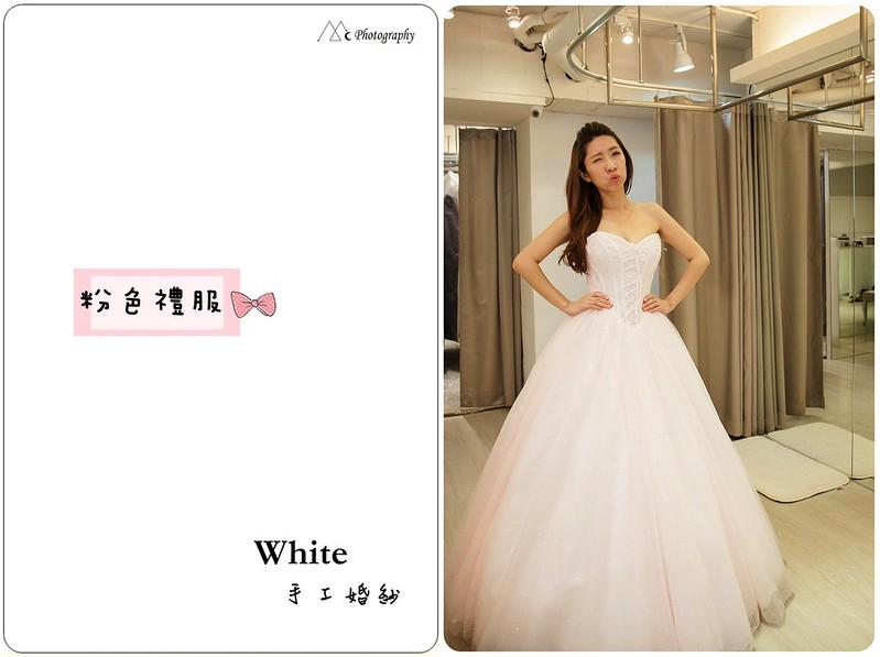 WHITE  粉色禮服