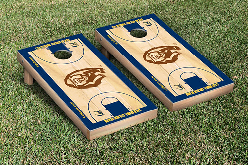 California Berkeley Golden Bears Cornhole Game Set Basketball Court Version