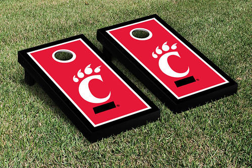 University of Cincinnati Bearcats Cornhole Game Set Border Version