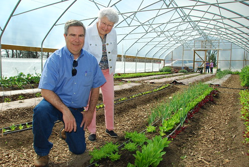 The Share the Harvest Food Pantry uses a seasonal high tunnel to grow fresh fruits and vegetables for people in need.