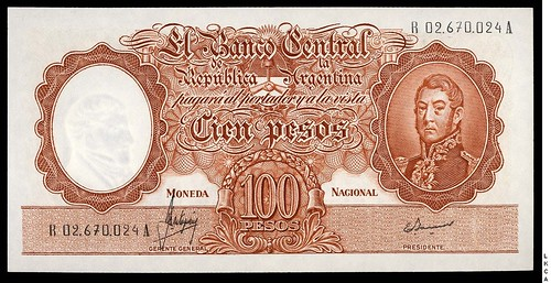 Argentina 10 Pesos replacement note