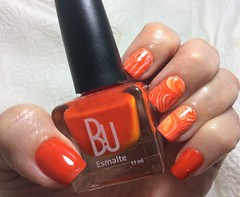 B.U. Orange Cool nail Marble