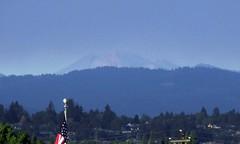 Mount Adams and smoke
