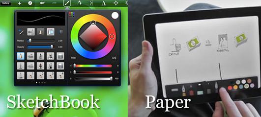 Comparativa entre Sketchbook y Paper