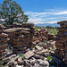 A standing wall at the Nake'muu Pueblo archaeological site on Los Alamos National Laboratory property.