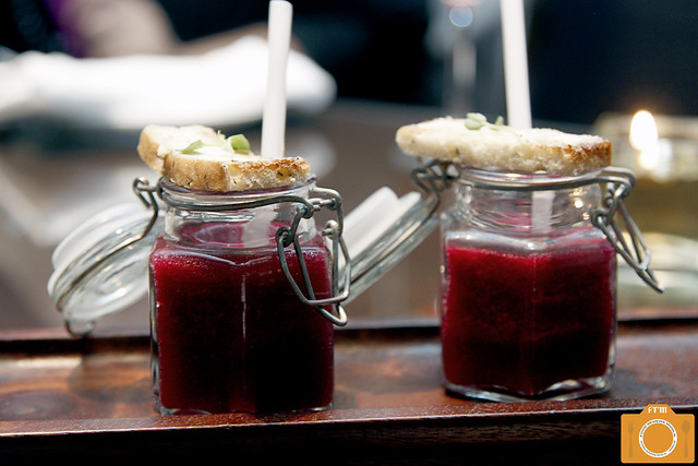Sage Beetroot Gazpacho Shot