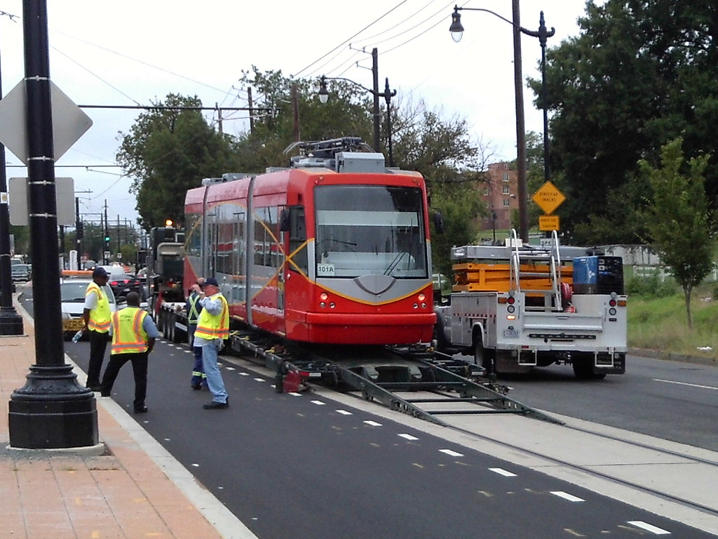 Streetcar vehicle returning to H/Benning permanently.