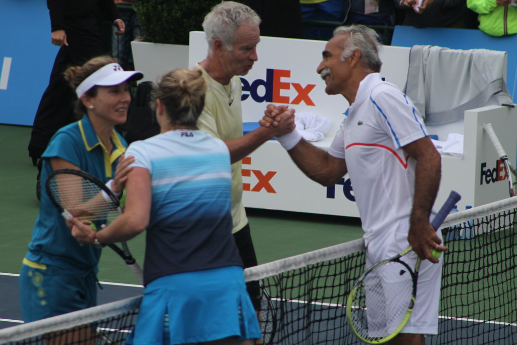 Seles Clijsters Bahrami and McEnroe