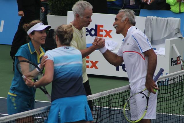 Seles Clijsters Bahrami and McEnroe