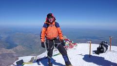 Ja na szczycie Elbrus 5642m.