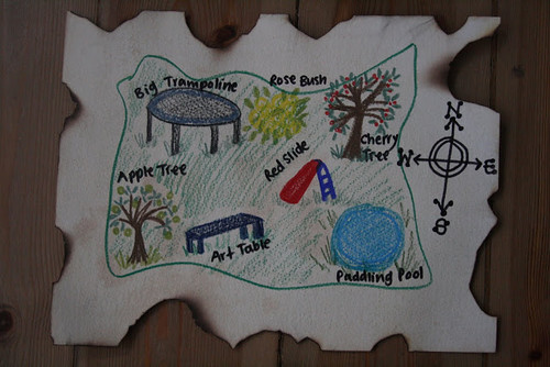 Garden Treasure Map (Photo from The Imagination Tree)