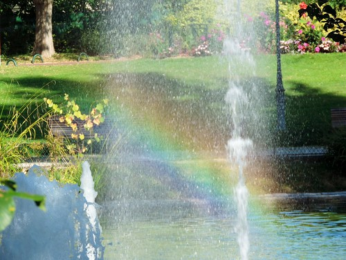 Rainbow fountain