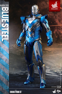 Hot Toys – MMS391 – 鋼鐵人3【馬克30 藍鋼】Mark XXX Blue Steel 1/6 比例人偶作品