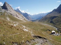 Looking at the descent from the Col de la Seigne 2516m into Italy Image