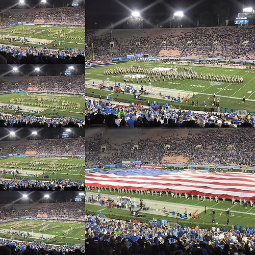 UCLA half time show. Veterans day festivities on Saturday. #ucla