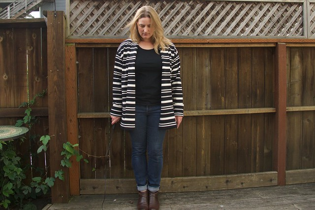 striped Oslo outfit