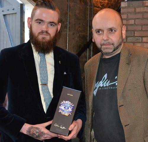 Winner Will Cox (left) with Phil Huckle, Pernod Ricard UK