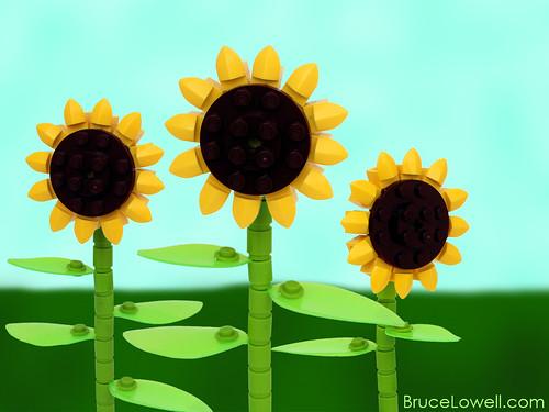 LEGO Sunflowers