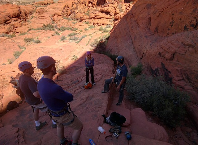 Rock Climbing at Red Rock Canyon