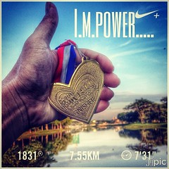 Thx! father for de power u gave me 2 overcome Obstacle... #nikeplus #newbalance #dontletyourdreamdie