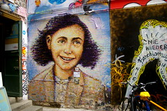 Anne Frank street art