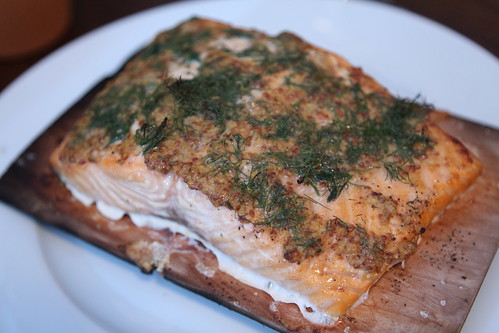 Mustard Dill Plank Salmon