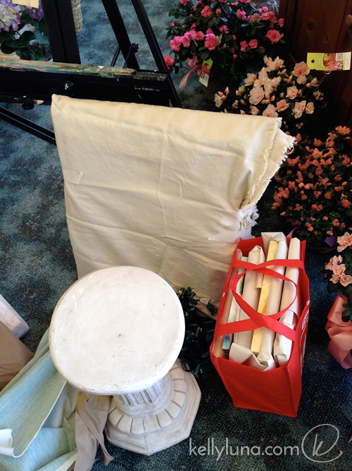 setup-column bag easel