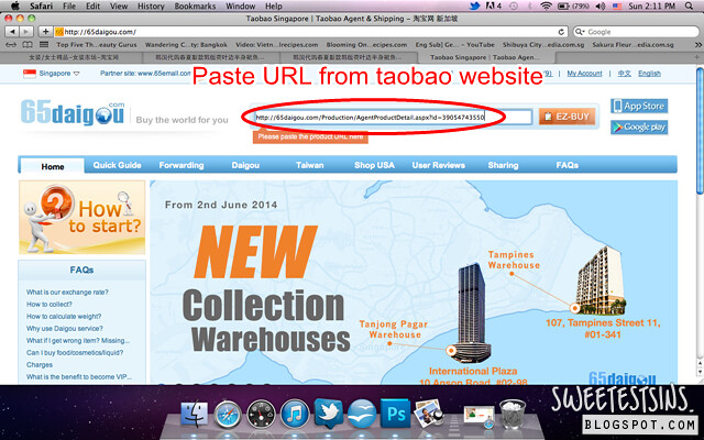 step by step guide on how to shop on taobao using 65daigou_paste url in 65daigou website