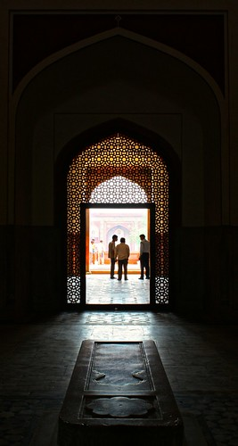 looking out on Humayun's Tomb
