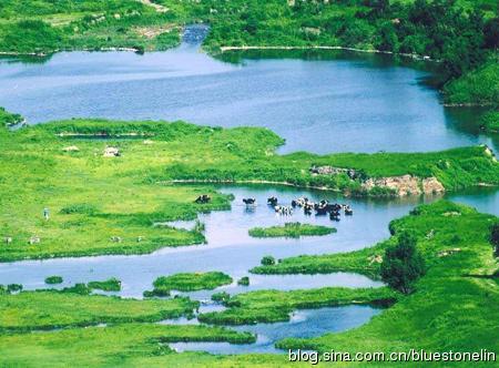 從北京豐台區沿永定河往上游溯源,可見到永定河優美的景觀。(網路圖片)(圖片來源:林吉洋)