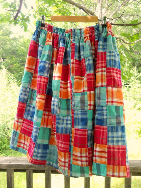patchwork quilt skirt