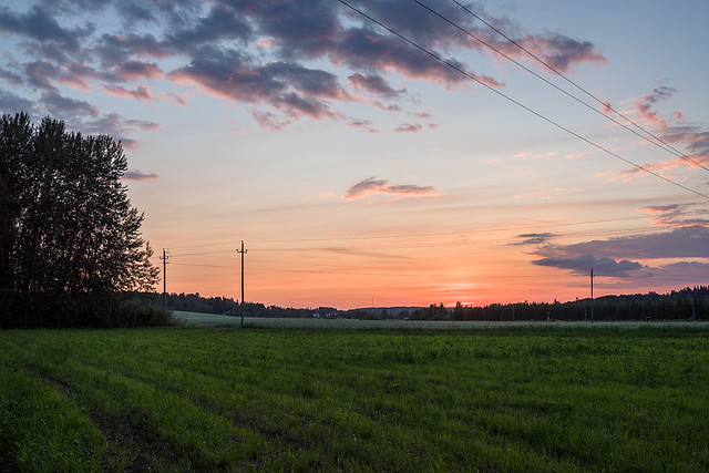 Fields at sunset with Nikon D810