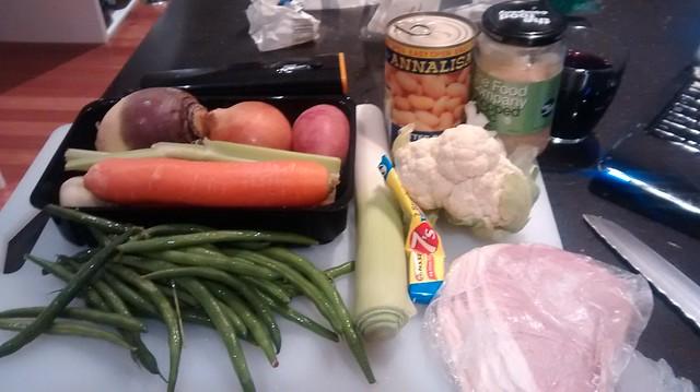 Sunday Soup (vege and ham)