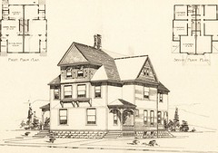 """Image from page 124 of """"Artistic dwellings : giving views, floor plans and estimates of cost of many house and cottage designs, costing from $600 up, designed and selected with especial reference to economy in building and convenience of arrangement"""" (189"""