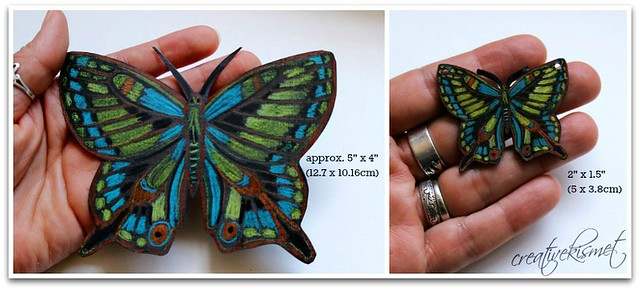 shrink plastic butterfly by Regina Lord